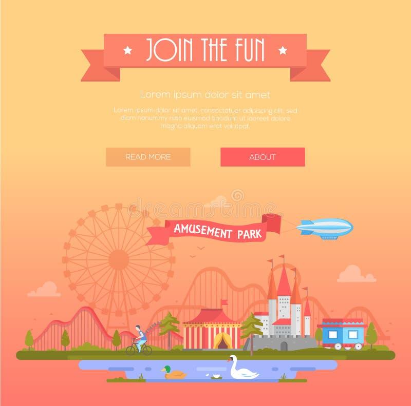 Joignez l'amusement - illustration moderne de vecteur illustration stock