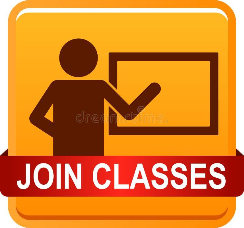 Joignez les classes illustration stock