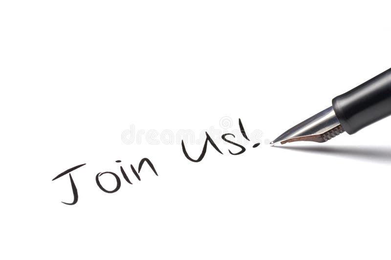 Joignez-nous ! images stock