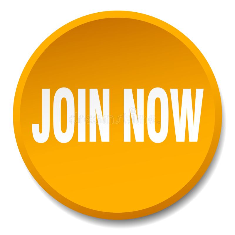 Join now button. Join now round button isolated on white background. join now stock illustration