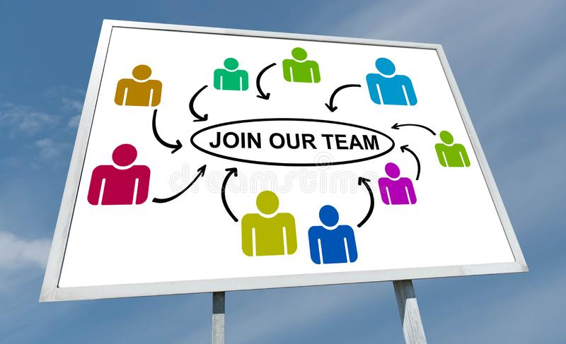 Join our team concept on a billboard. Join our team concept drawn on a billboard royalty free stock images