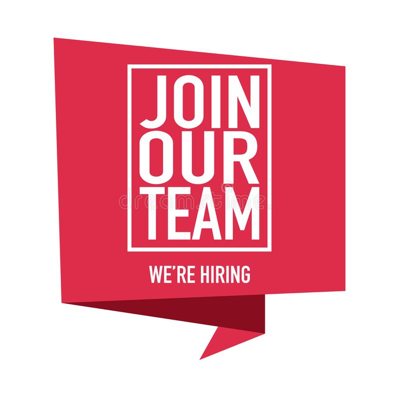 Join our team we are hiring vector stock illustration