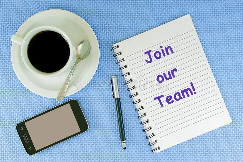 Join our Team stock photos