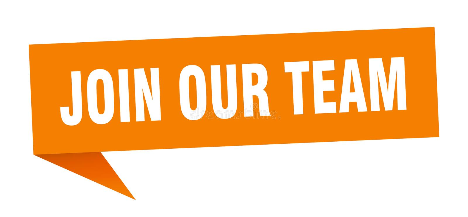Join our team speech bubble. Join our team sign. join our team vector illustration
