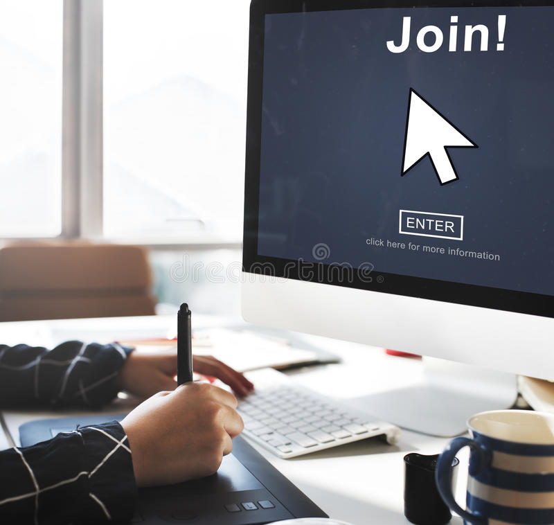 Join Register Enter Arrow Icon Concept royalty free stock image
