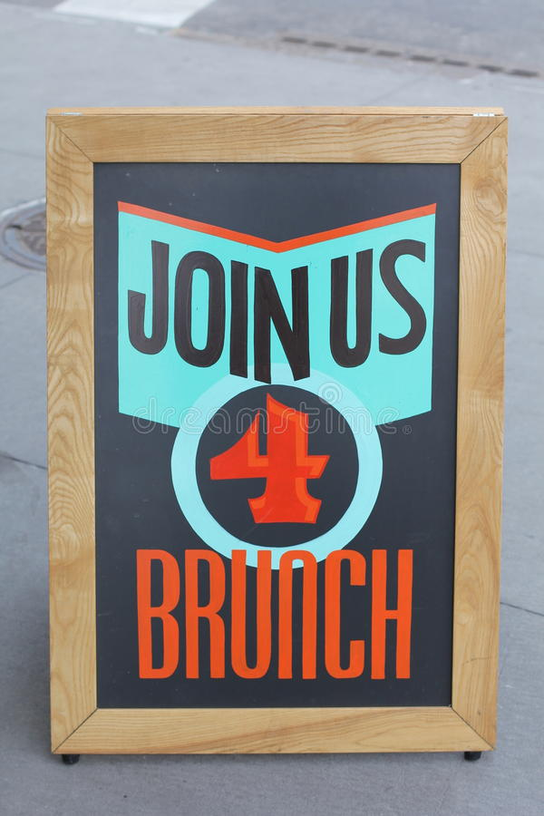 Join Us 4 Brunch royalty free stock images