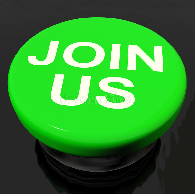 Join Us Button Shows Joining Membership Register. Join Us Button Showing Joining Membership Register vector illustration
