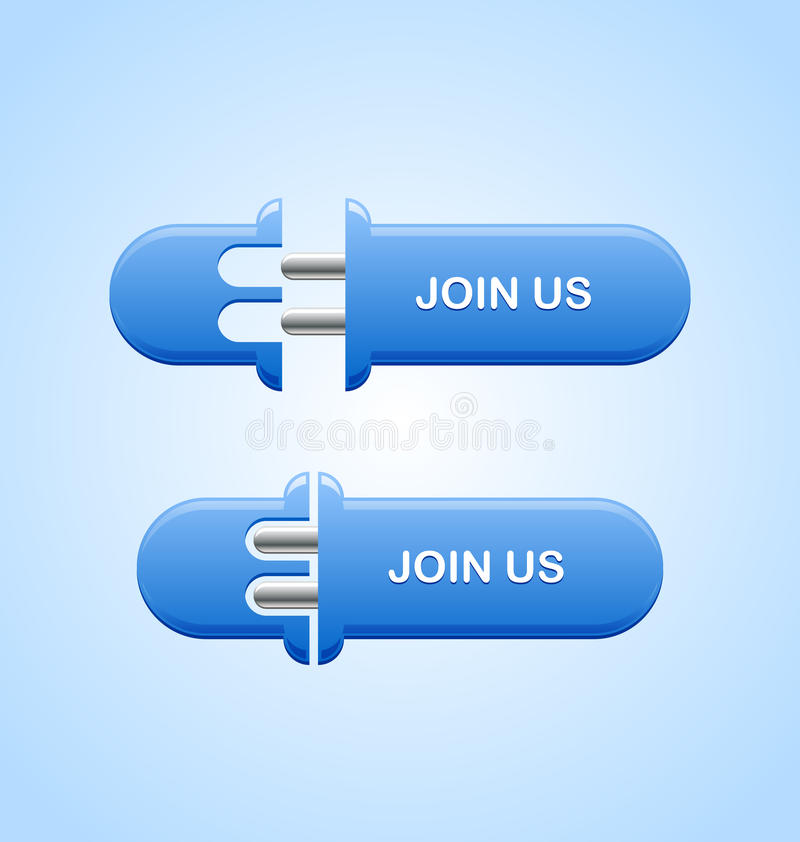 Join us button royalty free illustration