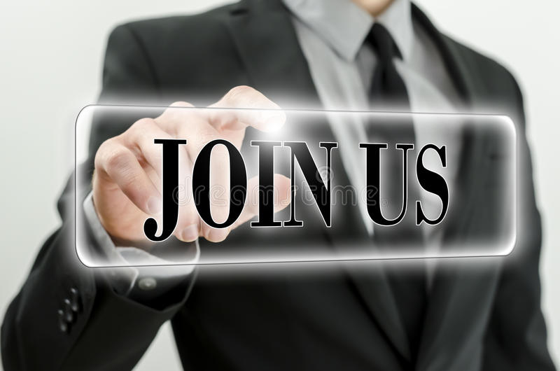 Join us stock photography