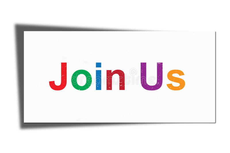Join us graphic stock illustration