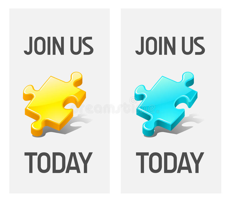 Join us icons royalty free illustration