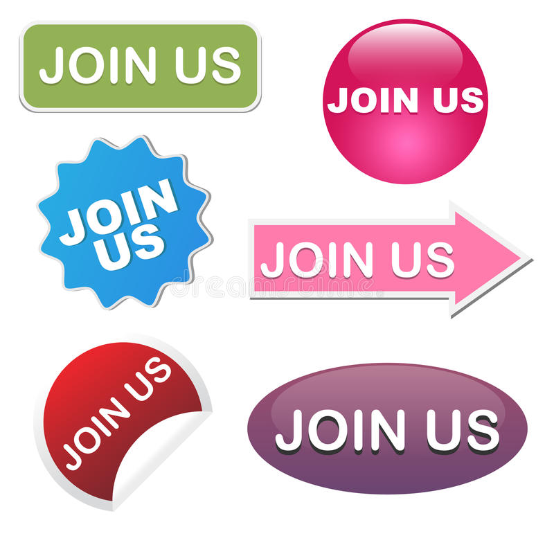 Download Join Us Icons Stock Images - Image: 18297644
