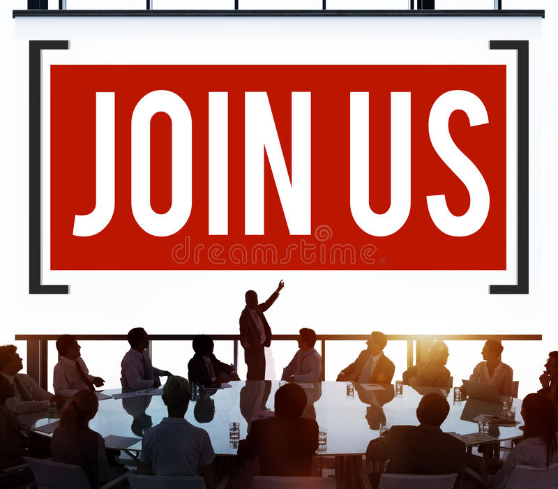 Join Us Invitation Support Business Concept royalty free stock photo