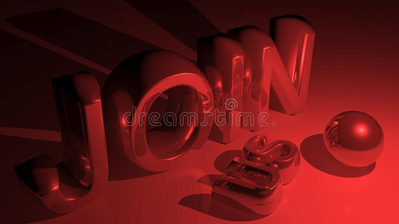 JOIN US in metallic red stock illustration