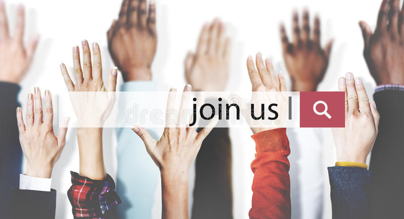 Join Us Recruitment Employment Hiring Concept stock photo
