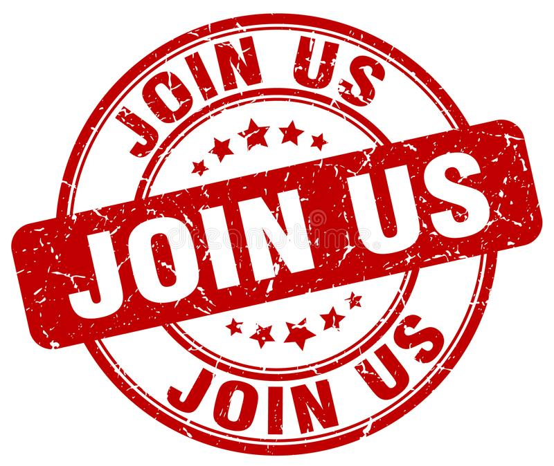 Join us stamp. Join us grunge stamp on white background vector illustration
