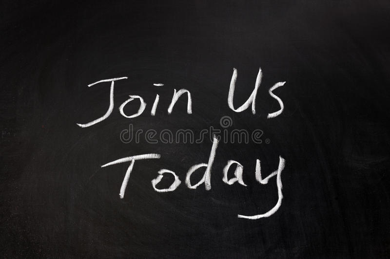 Join Us Today Stock Photography