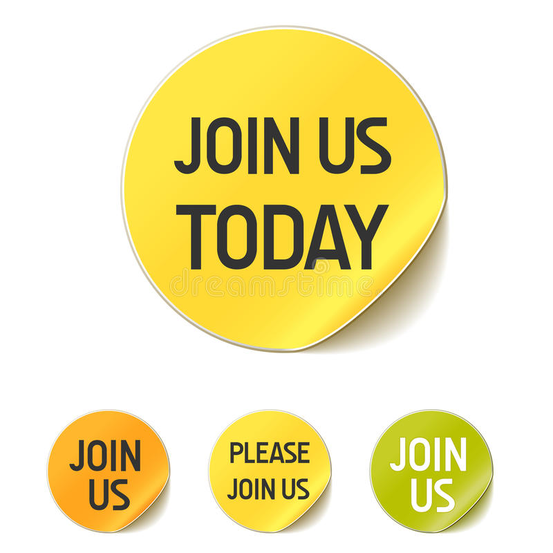 Free Join Us Today Button Stock Images - 15943104