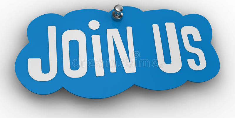 Join Us Website Pin Sign Word Stock Photos