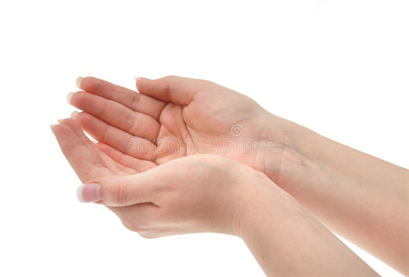 Joined Female Hands Stock Photos