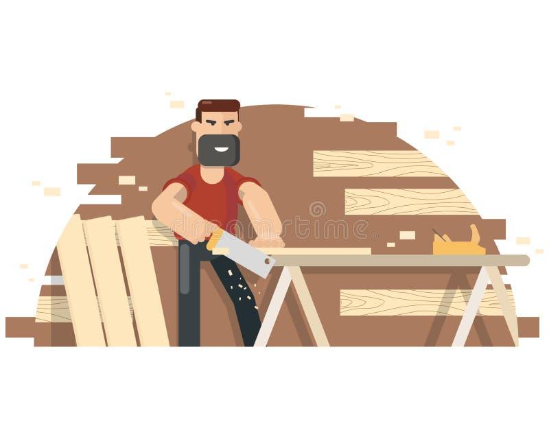Joiner dla ławki ilustracji