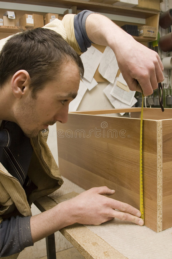 Free Joiner Making Furniture In His Manufactory Stock Photos - 4332433