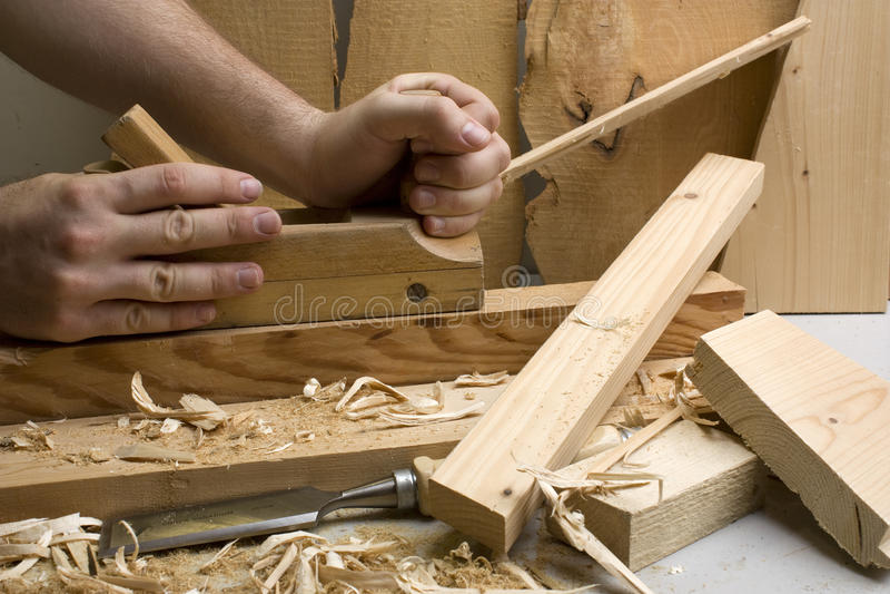 joinery wytłaczać wzory drewnianego warsztat zdjęcia stock