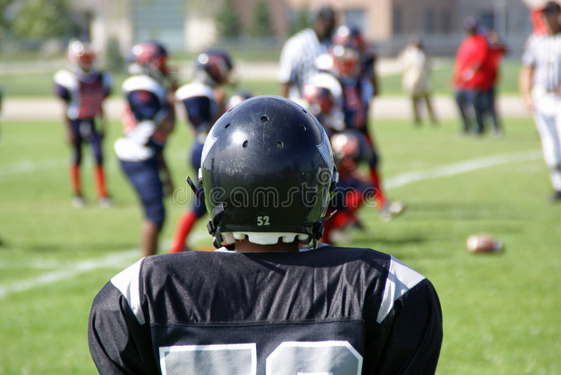 Joining the Football Game royalty free stock photography