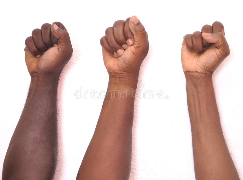 JOINING FORCES stock image