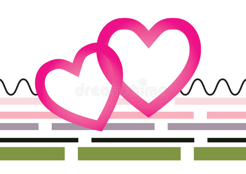 Download Joining Hearts stock vector. Image of vision, retro, color - 7370513