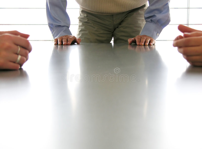 Joining the meeting stock image