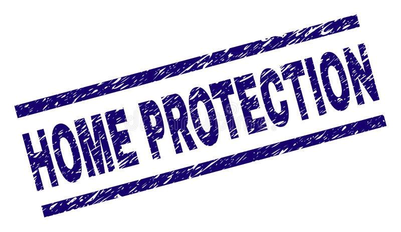 Joint À LA MAISON texturisé de timbre de PROTECTION de grunge illustration de vecteur