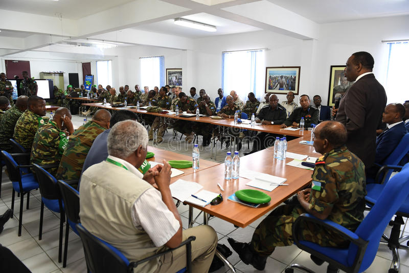 2017_07_24_Joint_AMISOM_FGS_Conference-5 stock photo