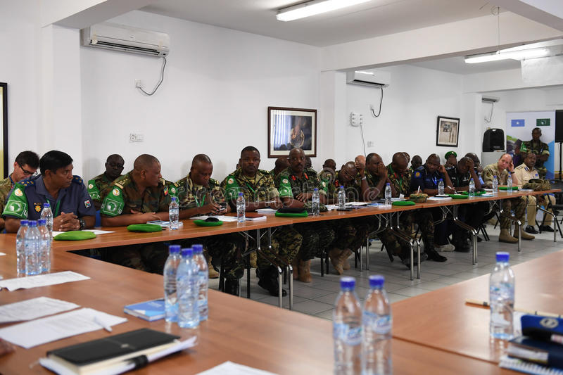 2017_07_24_Joint_AMISOM_FGS_Conference-3 stock image