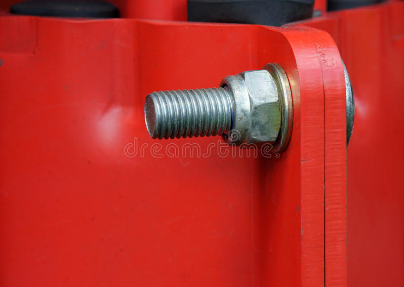 Joint with bolt and nut stock photos