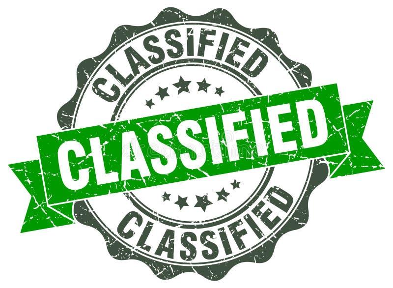joint classifié estampille illustration libre de droits