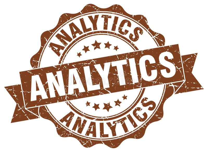 joint d'analytics estampille illustration de vecteur