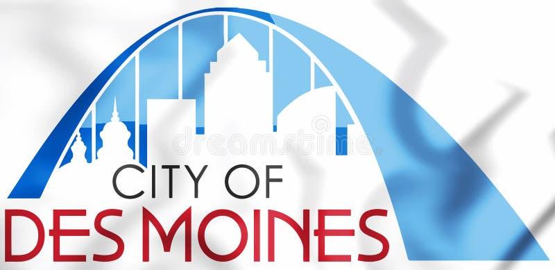 joint 3D de Des Moines Iowa, Etats-Unis illustration de vecteur