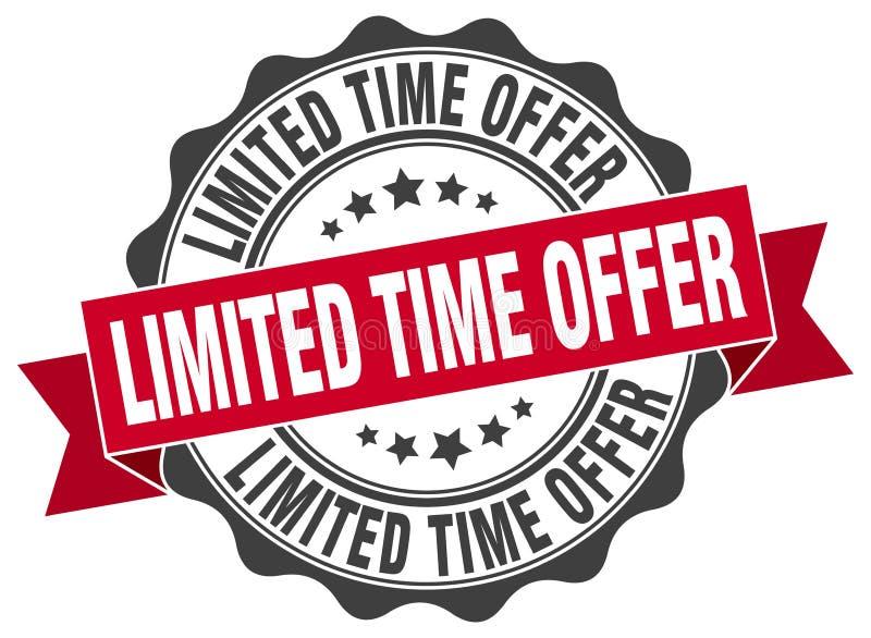 joint d'offre de temps limité estampille illustration stock