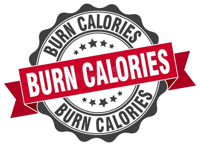 joint de calories de brûlure estampille illustration libre de droits