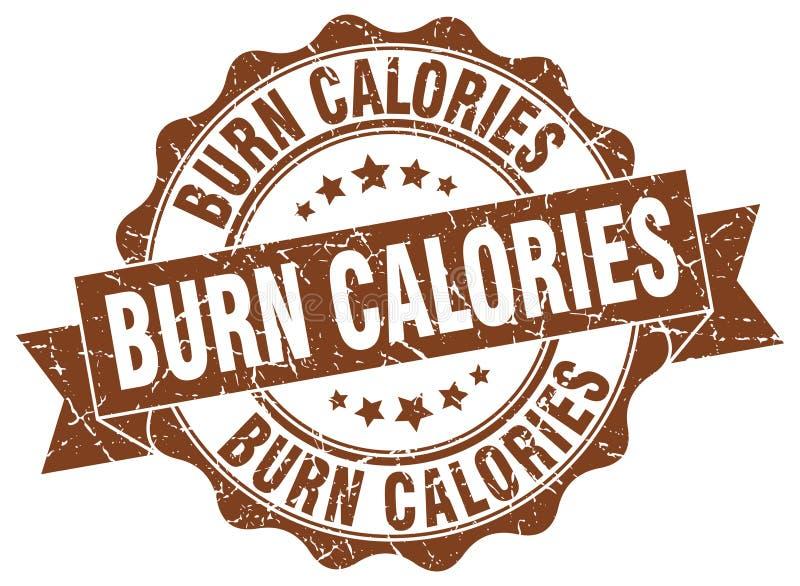 joint de calories de brûlure estampille illustration de vecteur