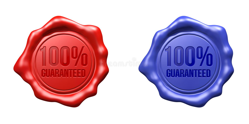 Joint de cire réglé (rouge, bleus) - 100% garanti illustration libre de droits