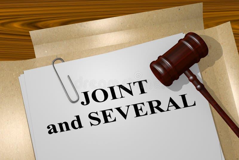 Joint et plusieurs - concept juridique illustration stock
