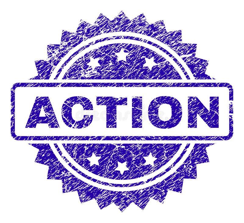 Joint grunge de timbre d'ACTION illustration stock