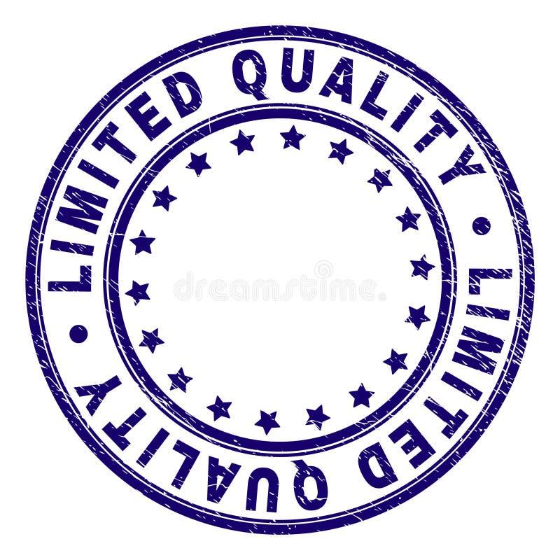 Joint LIMITÉ texturisé rayé de timbre de rond de QUALITÉ illustration de vecteur