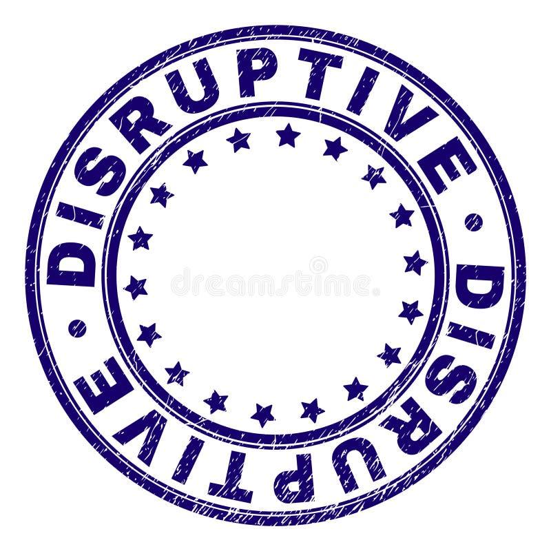 Joint rond DISRUPTIF texturisé rayé de timbre illustration de vecteur