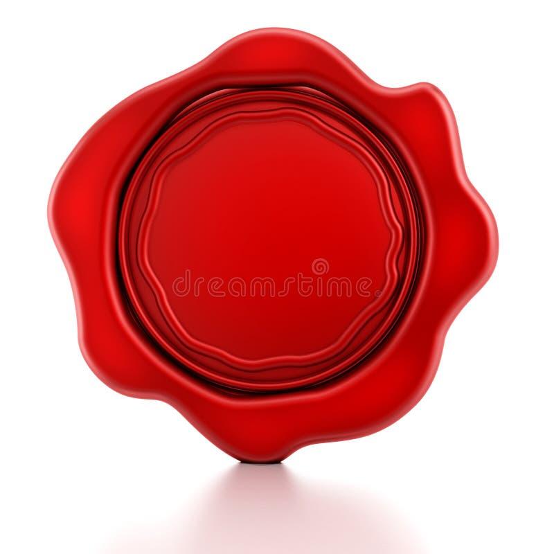 Joint rouge vide de cire illustration stock