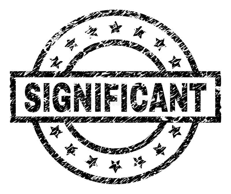 Joint SIGNIFICATIF texturisé de timbre de grunge illustration libre de droits