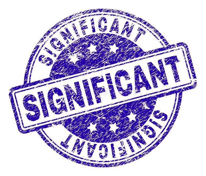 Joint SIGNIFICATIF texturisé rayé de timbre illustration stock