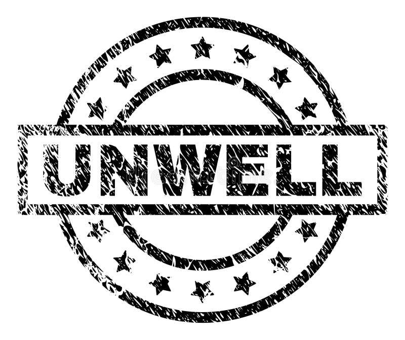 Joint SOUFFRANT texturisé rayé de timbre illustration stock